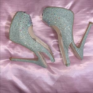 Sparkly Rhinestone Heels Size 7.5 US Women's